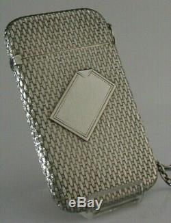 SUPERB AMERICAN VICTORIAN SOLID STERLING SILVER CARD CASE ANTIQUE c1880s WATSON