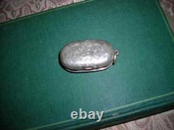 Sale! Antique 1870 Hall Marked British Victorian Sterling Silver Coin Holder