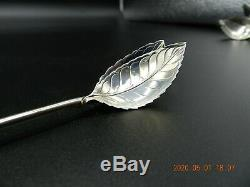 TIFFANY & CO STERLING SILVER LEAF MINT JULEP ICED TEA STRAW SPOONS 10 Available