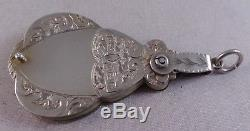 Very Nice Antique Sterling Silver Chatelaine Aide Memoire / Pad 1887