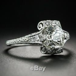 Victorian, Edwardian Engagement Antique Ring 2.0 Ct Diamond 925 Sterling Silver
