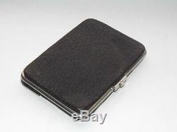 Victorian Solid Silver Sterling Mounted Leather Wallet Stamp Wallet Purse 1895