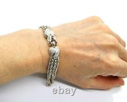 Victorian Sterling Silver Albertina Watch Chain Or Bracelet