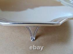Victorian Sterling Silver Crest Teapot Stand London 1897