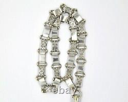 Victorian Sterling Silver Locket And Bookchain