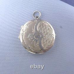 Victorian Sterling Silver Locket Pendant / Antique