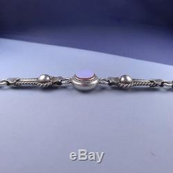 Victorian Sterling Silver Pocket Watch Chain / Antique