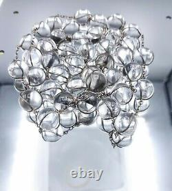 Victorian Sterling Silver Pools of Light 40 Undrilled Crystal Orb Necklace 23