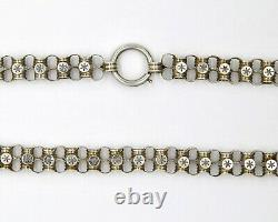 Victorian Sterling Silver Star Chain Necklace
