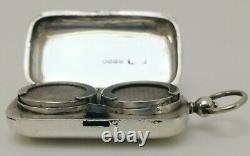 Vintage 1886 JNM Solid Sterling Silver Double Sovereign Coin Case Holder 38g