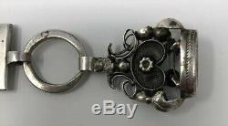 Vintage Antique Superb Victorian solid sterling silver pocket watch chain fob