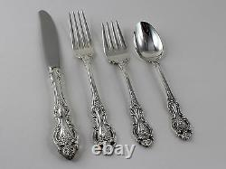 Wallace Grand Victorian Sterling Silver 4 Piece Place Setting No Monograms